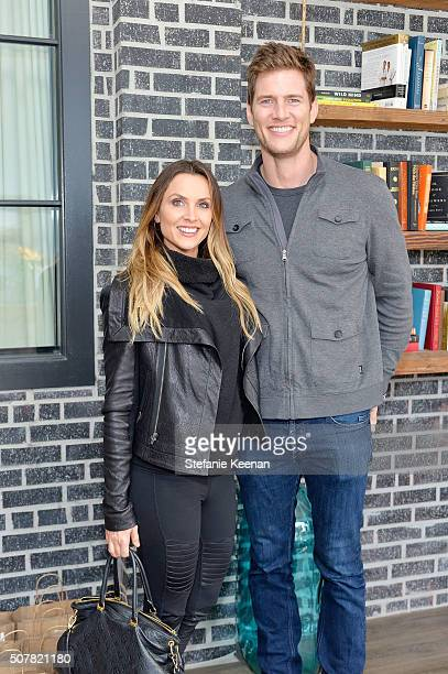 Danielle Kirlin and actor Ryan McPartlin attend the DEN Meditation Studio grand opening on January 31 2016 in Los Angeles California