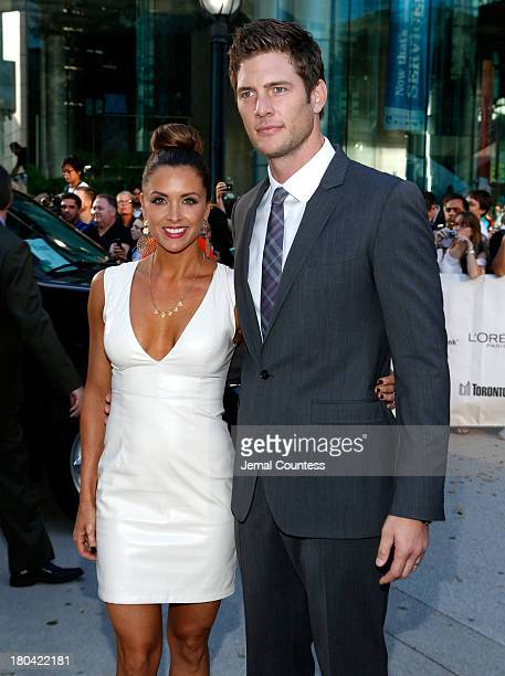 Danielle Kirlin and actor Ryan McPartlin attend The Right Kind Of Wrong premiere during the 2013 Toronto International Film Festival at Roy Thomson...