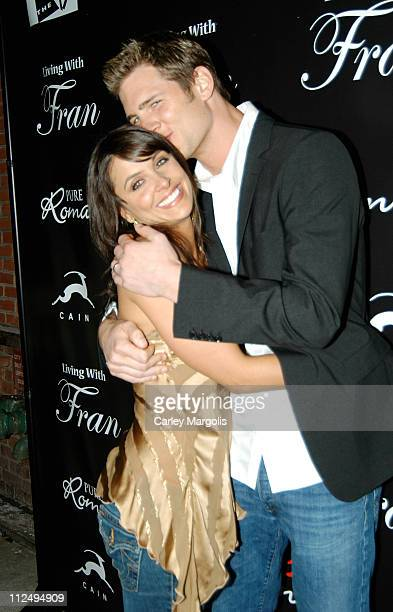 Danielle Kirlin and husband Ryan McPartlin during Fran Drescher Celebrates The Premiere of Living With Fran Sponsored by Pureromancecom at Cain in...