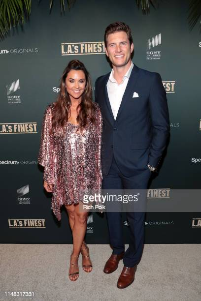 Danielle Kirlin and Ryan McPartlin attend Spectrum Originals and Sony Pictures Television Premiere Party for LA's Finest at Sunset Tower on May 10...