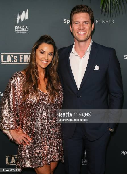 Danielle Kirlin and Ryan McPartlin attend the Premiere Of Spectrum's Originals LA's Finest at Sunset Tower on May 10 2019 in West Hollywood California