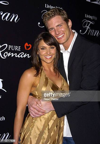 Danielle Kirlin and Ryan McPartlin during Living with Fran Premiere Party Sponsored by PureRomancecom at Cain Lounge in New York City New York United...