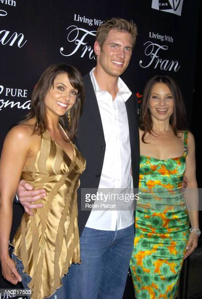 Danielle Kirlin Ryan McPartlin and Fran Drescher during Living with Fran Premiere Party Sponsored by PureRomancecom at Cain Lounge in New York City...