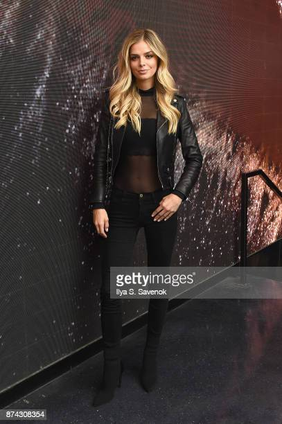Danielle Knudson attends the 50th anniversary celebration of Wilhelmina with cohost Patti Hansen on November 14 2017 in New York City