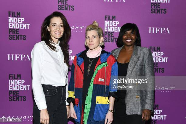 "Danielle Krudy, Bridget Savage Cole and Jacqueline Lyanga at Film Independent screening series presents ""Blow The Man Down"" at ArcLight Hollywood on..."