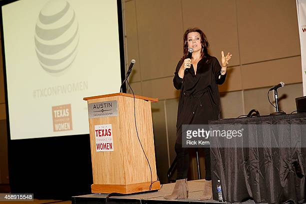 Danielle LaPorte speaks about Personal Developement Goals with soul during the 2014 Texas Conference For Women at Austin Convention Center on...