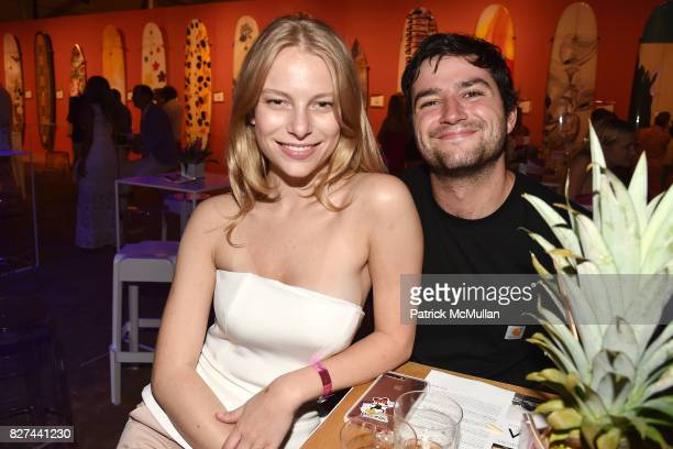 Danielle Lauder and Dylan Fowler attend Sixth Annual Hamptons Paddle and Party for Pink Benefitting the Breast Cancer Research Foundation at Fairview...