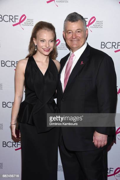 Danielle Lauder and William Lauder attend The Breast Cancer Research Foundation's 2017 Hot Pink Party at the Park Avenue Armory on May 12 2017 in New...