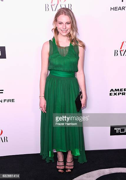 Danielle Lauder attends Harper's BAZAAR celebration of the 150 Most Fashionable Women presented by TUMI in partnership with American Express La Perla...