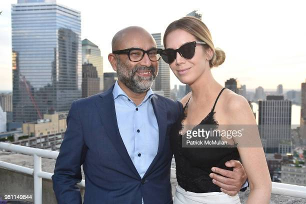 Danielle Lavine attend Summer Birthday Cocktails For Lawrence Kaplan at Tower 270 Rooftop on June 21 2018 in New York City