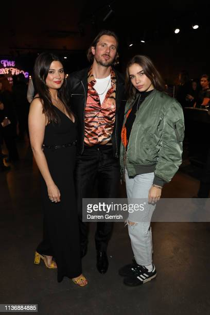 R Danielle LehtonenRiley Reino LehtonenRiely and Hana Cross attend The Great Frog Store launch event on March 19 2019 in London England