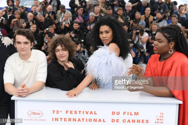 Danielle Lessovitz Lenys Bloom Fionn Whitehead and Jari Jones attends the photocall for Port Authority during the 72nd annual Cannes Film Festival on...