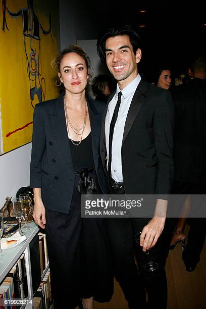 Danielle Levitt and Keegan Singh attend CHARLOTTE SARKOZY hosts cocktails in honor of BARBARA BUI at Private Residence on October 30 2008 in New York...