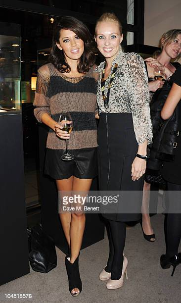 Danielle Lineker and Camilla Dallerup attend a launch party for Tara PalmerTomkinson's new book 'Inheritance' at Asprey London on September 28 2010...