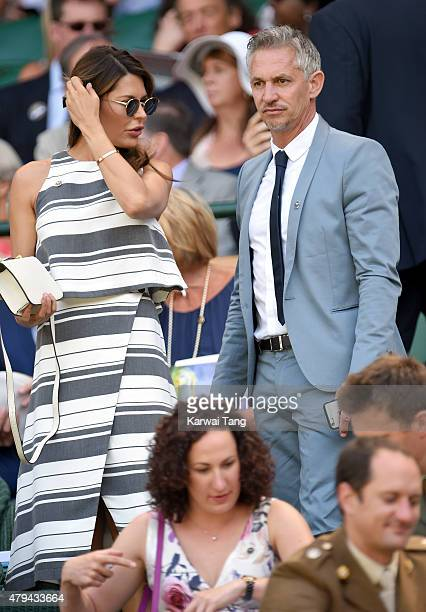 Danielle Lineker and Gary Lineker attend day six of the Wimbledon Tennis Championships at Wimbledon on July 4 2015 in London England