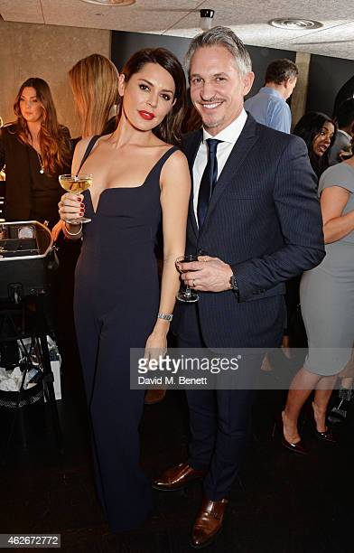 Danielle Lineker and Gary Lineker attend the InStyle and EE Rising Star Party in association with Lancome Karen Millen and Sky Living at The Ace...