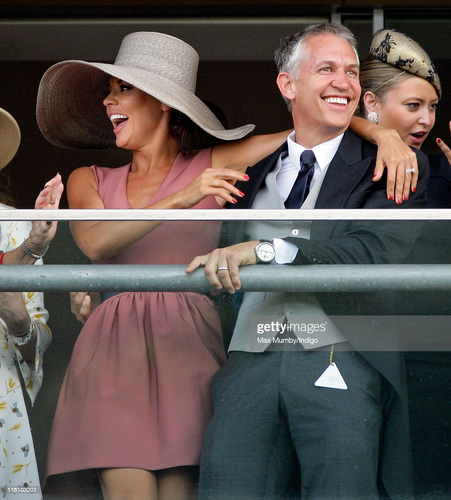 Danielle Lineker and Gary Lineker cheer as they watch the racing as they attend the opening day of Royal Ascot at Ascot Racecourse on June 14, 2011 in Ascot, United Kingdom.