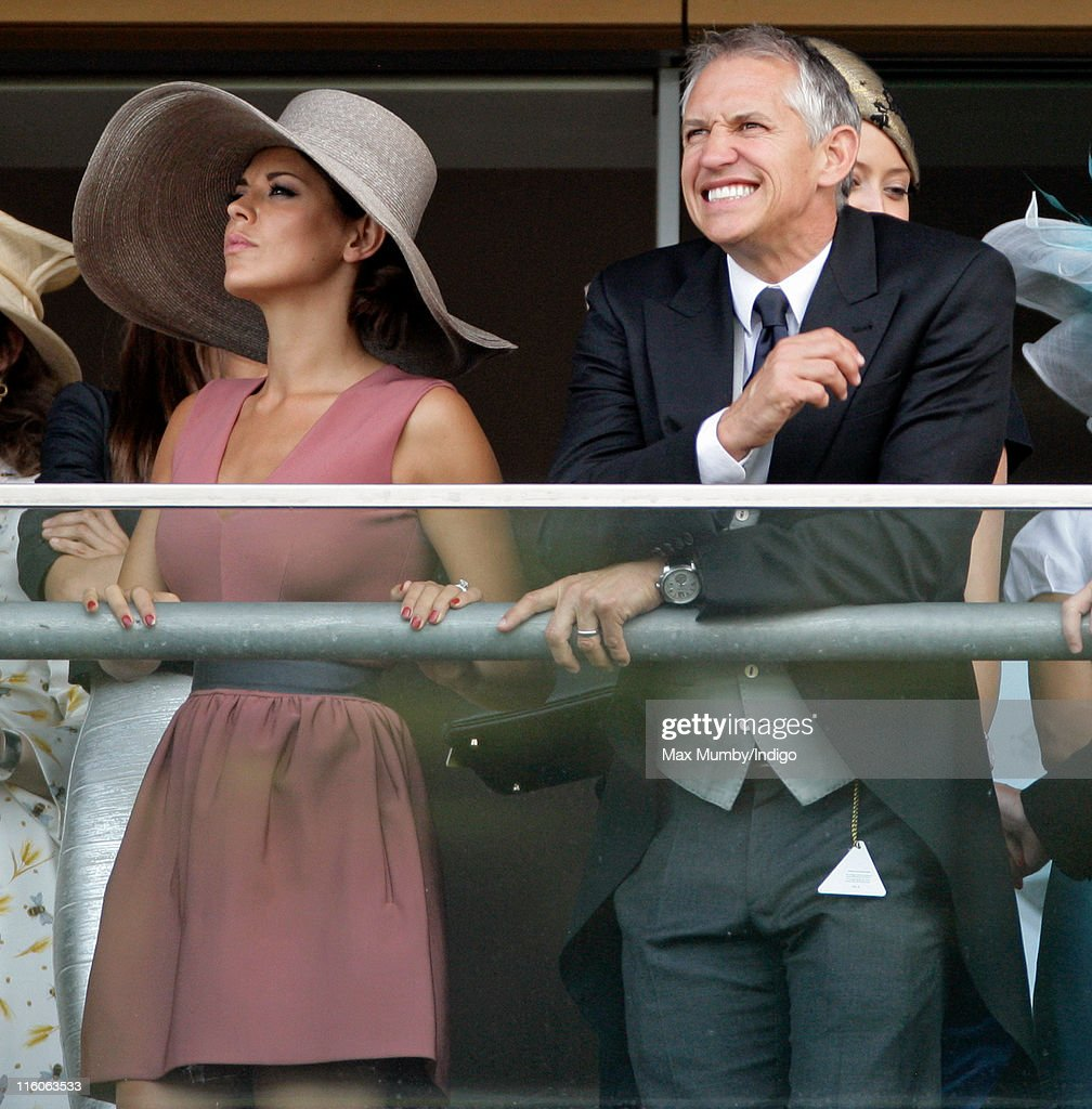 Danielle Lineker and Gary Lineker watch the racing as they attend the opening day of Royal Ascot at Ascot Racecourse on June 14, 2011 in Ascot, United Kingdom.