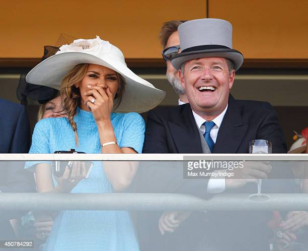 Danielle Lineker and Piers Morgan watch the racing as they attend Day 1 of Royal Ascot at Ascot Racecourse on June 17 2014 in Ascot England