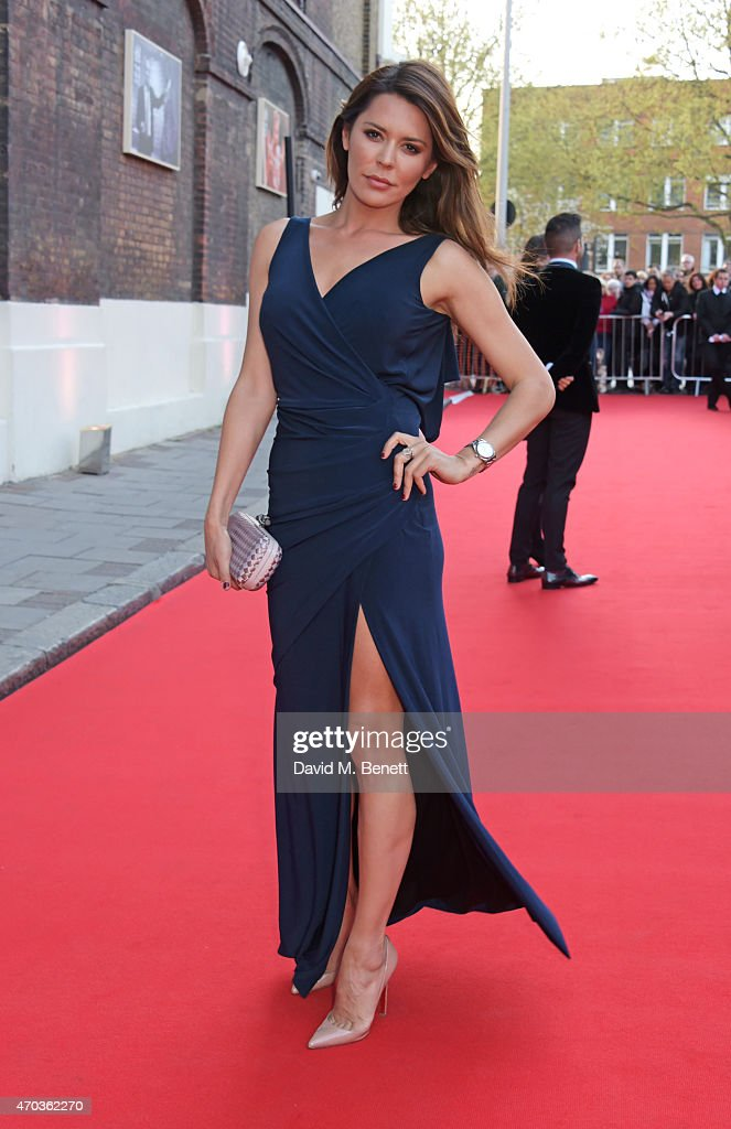 Danielle Lineker arrives at The Old Vic for A Gala Celebration in Honour of Kevin Spacey as the artistic director's tenure comes to an end on April 19, 2015 in London, England.
