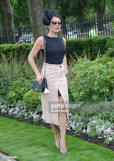 Danielle Lineker attends Royal Ascot 2015 at Ascot racecourse on June 16 2015 in Ascot England