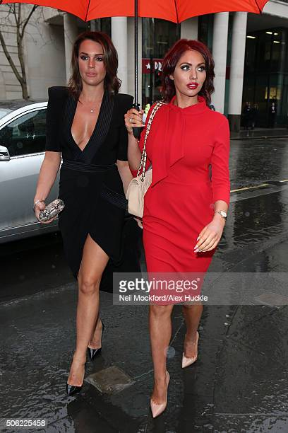 Danielle Lloyd and Amy Childs arrive for The Sun Military Lunch at Guildhall January 22 2016 in London England