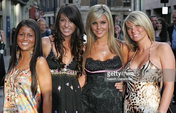 Danielle Lloyd and friends arrive at the Top Gun Gala Screening at the Odeon West End on August 13 2007 in London England