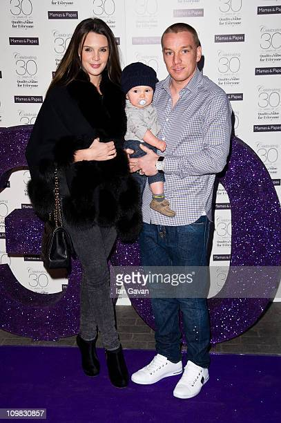 Danielle Lloyd and Jamie O'Hara attends the Mamas Papas 30th anniversary party at the Mamas and Papas Store on March 7 2011 in London England