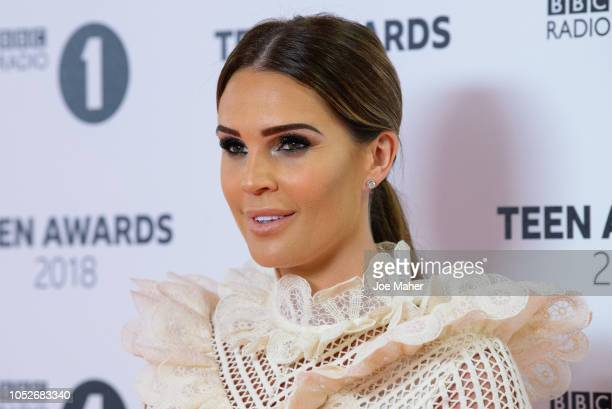 Danielle Lloyd arrives at the BBC Radio 1 Teen Awards at SSE Arena on October 21 2018 in London England