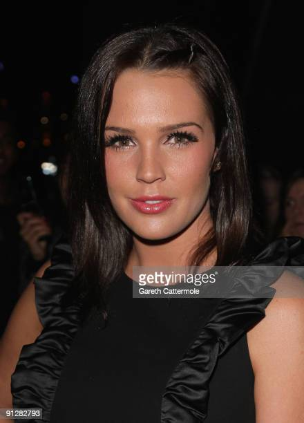 Danielle Lloyd arrives at the MOBO Awards 2009 held at Glasgow's SECC on September 30 2009 in Glasgow Scotland