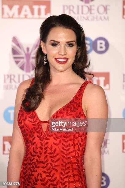 Danielle Lloyd arrives at the Pride Of Birmingham Awards 2018 at University of Birmingham on March 8 2018 in Birmingham England
