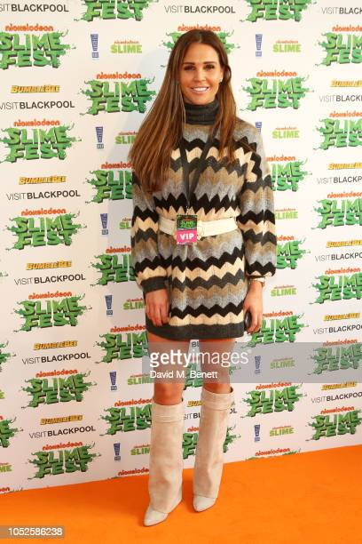 Danielle Lloyd attends 'Nickelodeon SLIMEFEST' at Blackpool Pleasure Beach on October 20 2018 in Blackpool England Highlights from the slimefilled...