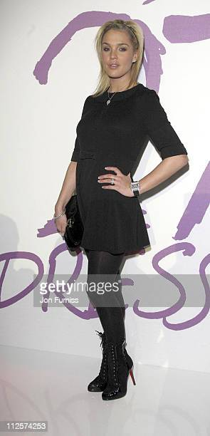 Danielle Lloyd attends the '27 Dresses' Dress Auction Fashion Show at Sketch on March 04 2008 in London England