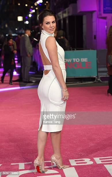 Danielle Lloyd attends the European Premiere of 'How To Be Single' at the Vue West End on February 9 2016 in London United Kingdom