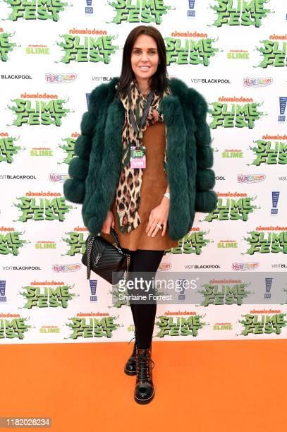 Danielle Lloyd attends the Nickelodoen Slimefest at Blackpool Pleasure Beach on October 19 2019 in Blackpool England