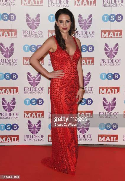 Danielle Lloyd attends the Pride Of Birmingham Awards 2018 at University of Birmingham on March 8 2018 in Birmingham England