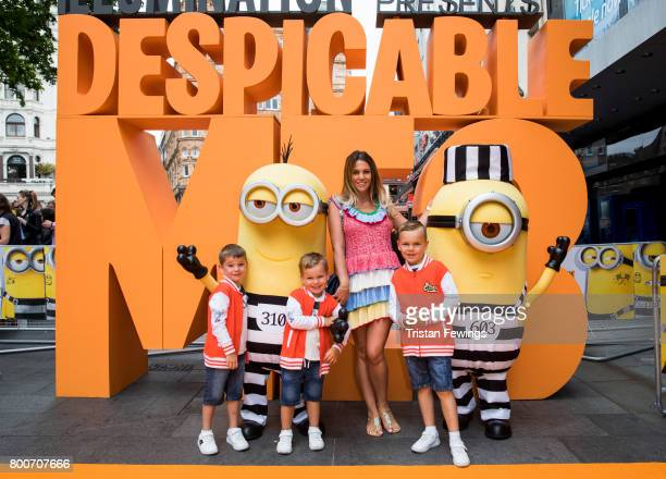 Danielle Lloyd attends the special screening of Despicable Me 3 at Odeon Leicester Square on June 25 2017 in London England