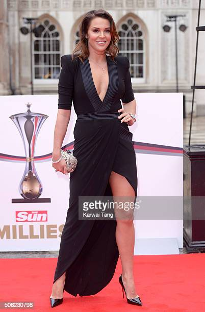 Danielle Lloyd attends the Sun Military Awards at The Guildhall on January 22 2016 in London England