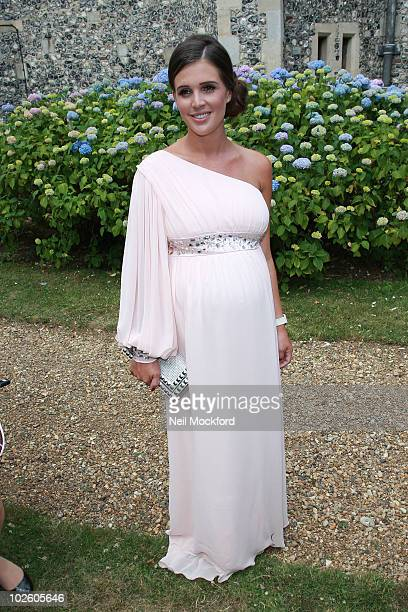 Danielle Lloyd attends the wedding blessing of Katie Price and Alex Reid at St Paul's Church, Woldingham on July 3, 2010 in Surrey, England.