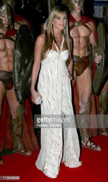 Danielle Lloyd during 300 London Premiere Outside Arrivals at Vue West End in London Great Britain