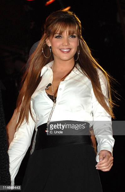 Danielle Lloyd during Celebrity Big Brother 2007 Final Eviction at Elstree Studios in London Great Britain