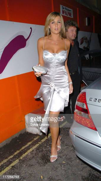Danielle Lloyd during I Want Candy London Premiere After Party at The Gaucho Grill in London Great Britain