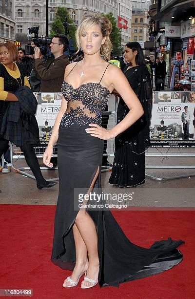 Danielle Lloyd during Life In AMetro London Premiere Red Carpet Arrivals at Empire Leicester Square in London Great Britain