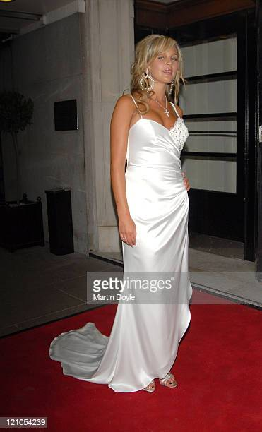Danielle Lloyd during Walk With Cancer Ball Outside Arrivals at The Ballroom at The Savoy in London Great Britain