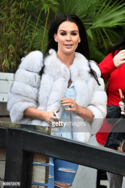 Danielle Lloyd seen at the ITV Studios on January 17 2018 in London England