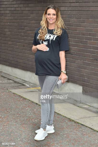 Danielle Lloyd seen at the ITV Studios on July 25 2017 in London England
