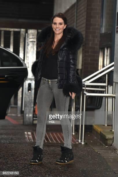Danielle Lloyd seen at the ITV Studios on March 15 2018 in London England