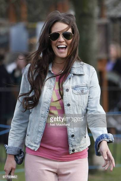 COVERAGE*** Danielle Lloyd Seen taking their new dog for a walk in Regent's Park on March 17 2010 in London England