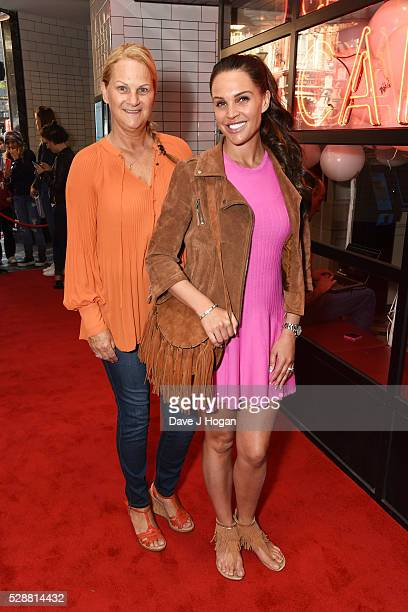 Danielle Lloyd with her mother Jackie Lloyd attend the UK gala screening of Angry Birds at Picturehouse Central on May 7 2016 in London England
