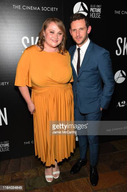 Danielle Macdonald and Jamie Bell attend the Skin New York Screening at The Roxy Cinema on July 24 2019 in New York City